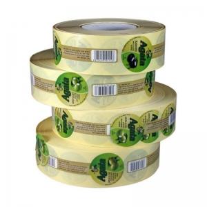 Adhesive plastic labels